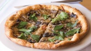Mushroom, Gruyere and caramelized onion pizza
