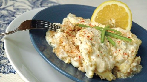 Make a creamy sauce for haddock using cream of celery soup.