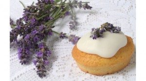 Cupcake with Lavender