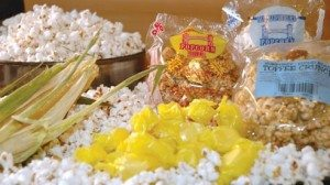 Humphrey popcorn balls come in a variety of flavors.