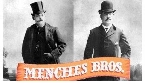 Brothers Charles (l) and Frank Menches claimed they invented the hamburger at the 1885 Erie County Fair.