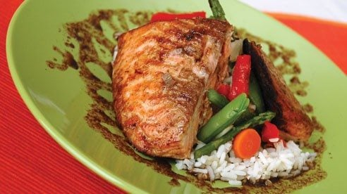 Seafood is a nutritionally balanced food. This sauteed salmon is quick and easy.