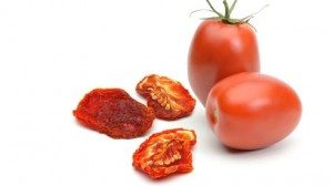 Dried and fresh plum tomatoes