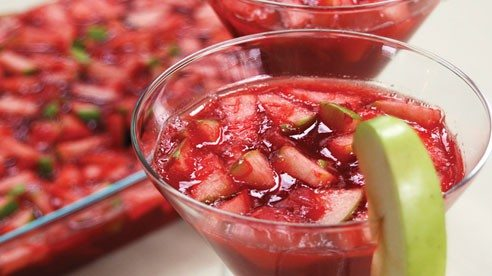 Try this refreshing rhubarb recipe at your next gathering.