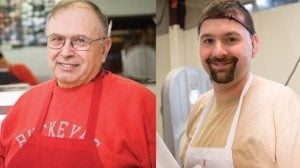 Left: Mike Belleville of Belleville Brothers Market in Bowling Green.  Right: Ivan Belleville, of Belleville Brothers Meat, oversees the Packing facility in North Baltimore.