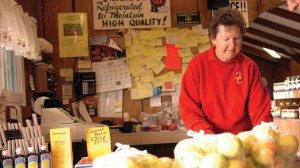 Carol Day runs a market and bakery on the orchard. She says she considers her customers part of her extended family.