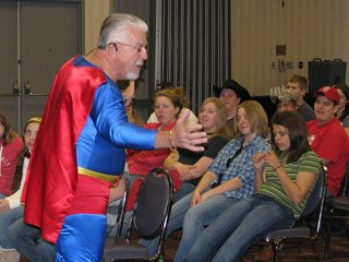 Motivational speaker Dave Leedy encouraged youths to make a difference in their local communities.