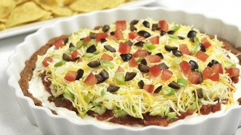 Serve with baked tortilla chips or an assortment of sliced vegetables such as carrots, celery and cucumber.