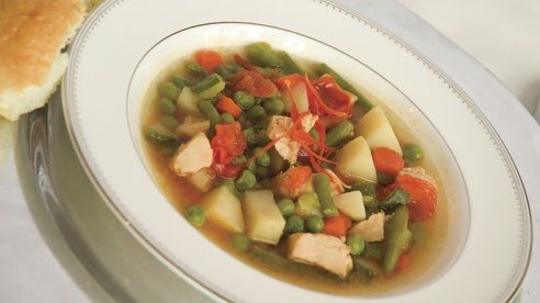 Here's an easy soup, add some bread and maybe a salad and you have a meal!