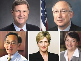 Vilsack, Salazar, Jackson, Browner and Chu