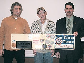 Centenarian shares Farm Bureau history. Photo courtesy Mahoning County Farm Bureau
