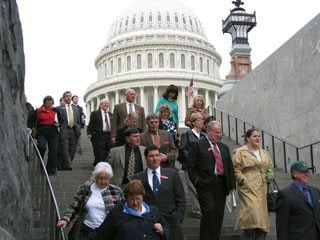 County Farm Bureau presidents, shown here leaving Capitol Hill, met with lawmakers on a variety of federal issues.