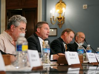 Steve Hirsch, second from left, told U.S. House lawmakers that efforts to address food safety should be practical.