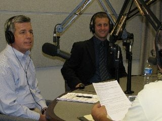 Stimpert (left) and Shapiro in the Town Hall Ohio Studios