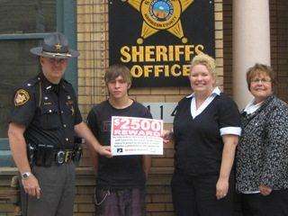 Harrison county Sheriff Joe Myers, Brent Price, NE Regional Supervisor Dannielle Dufour , Organization Director Michele