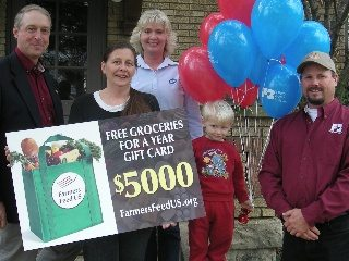 Melissa Mattox of Cincinnati was one of three Ohioans to win free groceries for a year (see story for full caption)
