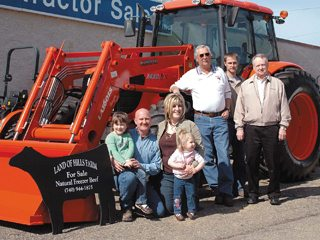 Robert and Autumn Morrison won the use of a Kubota tractor through the Outstanding Young Farmer contest.