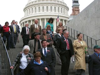Ohio farmers leave Capitol Hill during an annual trip in which they meet with Washington officials.