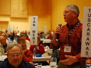 Delegates from county Farm Bureaus discussed, debated and voted on OFBF's policies for 2010