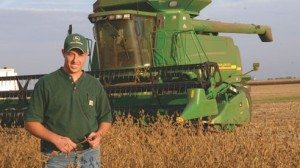 """Cody Kirkpatrick produces large amounts of corn, soybeans and wheat. He says he makes farming decisions based on the demands of the global marketplace. """"There's nothing wrong with being diverse. It's whatever the market can bear."""""""