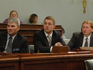 Farmers Michael Sprang , Matt Boyert  and Michael Vallery hear from several Ohio lawmakers on Capitol Hill