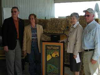 From left, Boggs, Lisa Schacht, Strickland and David Schacht