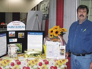 Guernsey County Farm Bureau Vice President Bryson Wakeley at the Guernsey County Home, Garden and Business Show.