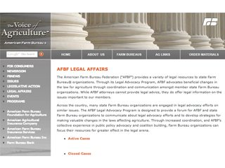 AFBF's Legal Affairs Web site