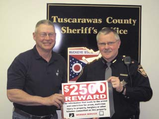 Tuscarawas County Farm Bureau President Jerry Lahmers, Sheriff Walt Wilson