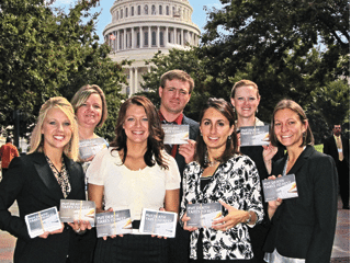 Young Agricultural Professionals recently delivered 1,576 postcards from Ohio farmers to lawmakers.