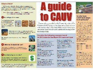 This graphic explains CAUV & why values are increasing. View this story & click the link below the photo for details.