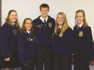 Members of the Fort Loramie FFA received the $1,000 grand prize for their creative video that demonstrated how farmers c