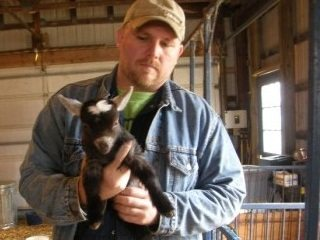 This gentleman purchased a pygmy goat from Dry Run Acres Pygmy Goat Farm, featured in Butler County's diaries.