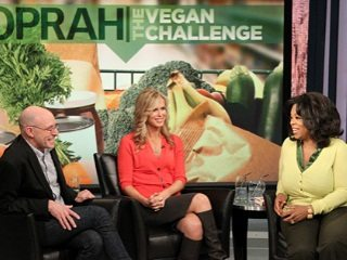 We're talking about Oprah's Vegan Challenge