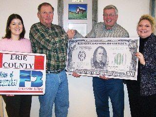 OD Amanda Denes; Ted Zunis, Erie County; Jeff Belmont, county membership coordinator; NE Supervisor Danielle DuFour