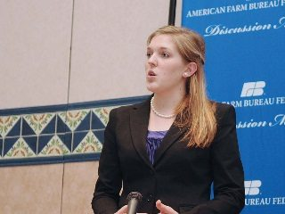 Emily Krueger was the first Ohioian to compete in the Collegiate Discussion Meet and took home the top prize.