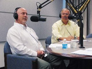 Ohio EPA Director Scott Nally, left, joins Ohio Farm Bureau's Jack Fisher on a recent edition of Town Hall Ohio.