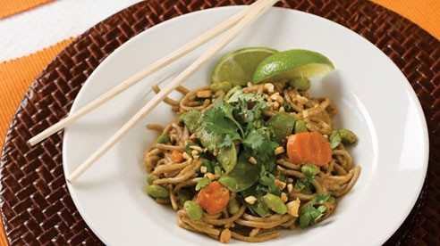 If you like peanuts and noodles, you'll enjoy this tasty and colorful dish.