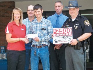 A Gallia County man recently received a $2,500 reward from Ohio Farm Bureau for his role in helping prevent crime.