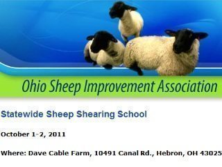 Ohio Sheep Shearing School is Oct. 1-2, 2011