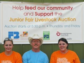 Ashley Miller; Doug Martig, Farm  Bureau; Becky Miller, Second Harvest Food Bank