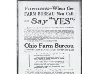 An early Farm Bureau ad describes the power of bringing people together to solve problems.