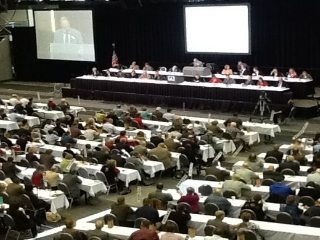 More than 300 delegates from all Ohio counties debated and approved policies for the organization in 2012.