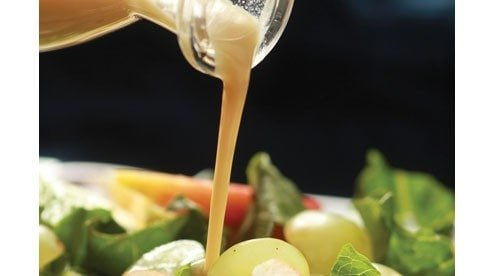Low in fat but tops in flavor, this lightly sweet dressing is a snap to make and is best with fresh, sturdy greens like romaine as well as fruit salads that feature apples, pears or grapes.