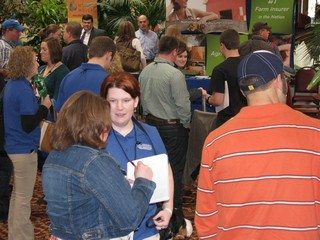 Young Ag Professionals at the trade show held during the annual leadership conference in Columbus March 9-10