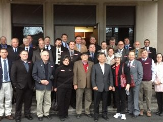 Some of Ohio's county Farm Bureau presidents visited the Korean Embassy on Monday (Photo by Lauren Fehlan)
