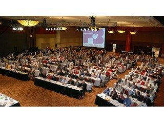 Delegates assembled at Ohio Farm Bureau's annual meeting