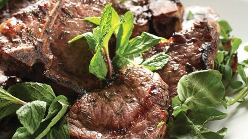Rich full-bodied wines like Cabernets are the perfect marinade base for the earthy flavor of lamb chops.