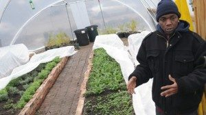 Kidron Shavers, a young man with developmental disabilities, employed by Cleveland Crops.