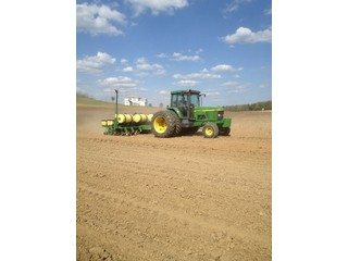 Eric Kinsey getting ready for planting season.